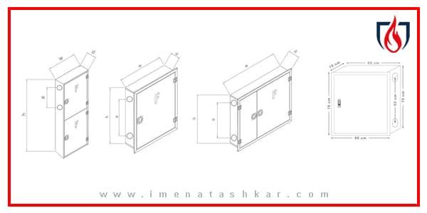 ابعاد استاندارد جعبه آتش نشانی